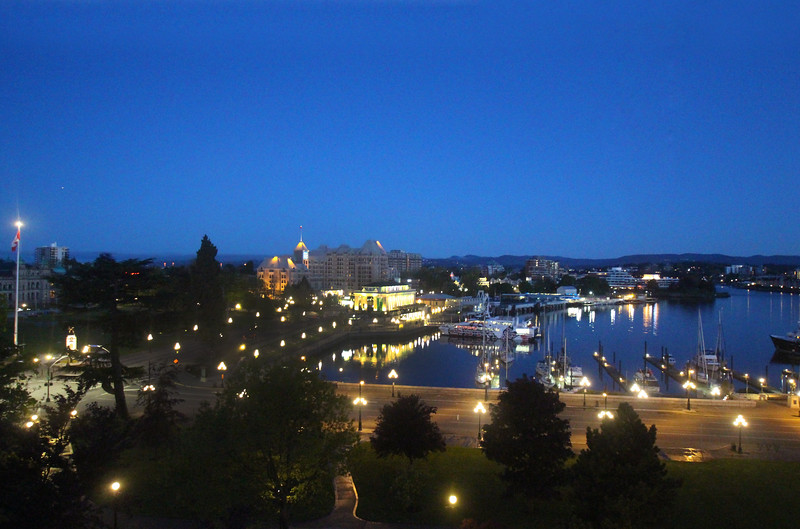 Sunrise view on Victoria's inner harbour