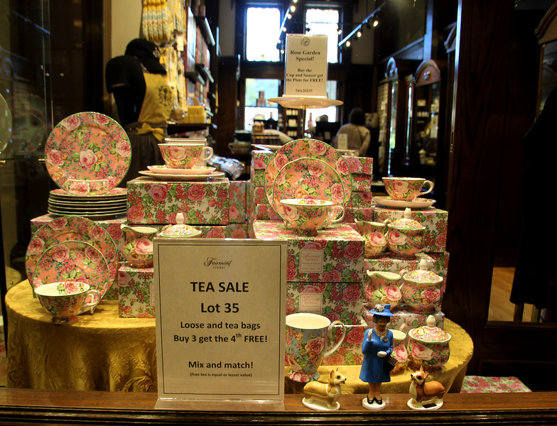 Fairmont Empress, Royal Rose Garden tea sets
