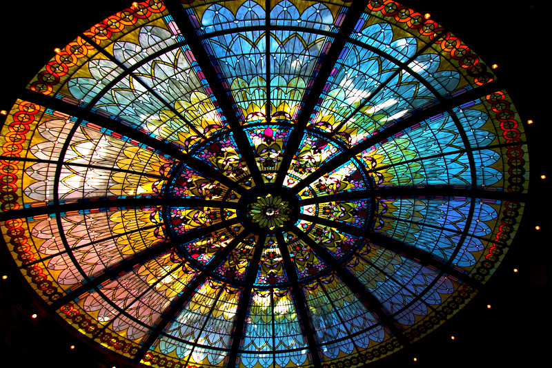 Fairmont Empress, Palm Court Stained Glass Dome