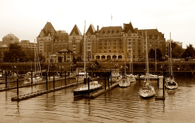 The historic Fairmont Empress Hotel, Victoria B.C>