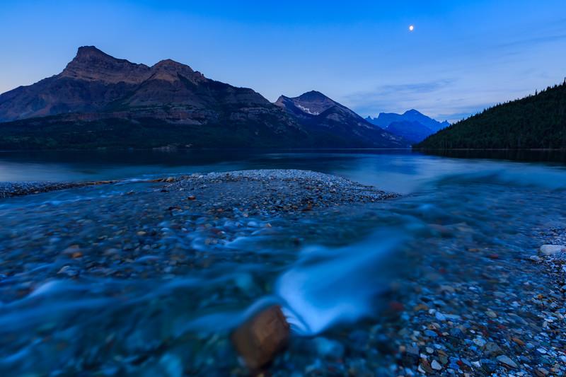 Cameron Creek Meets Waterton Lake