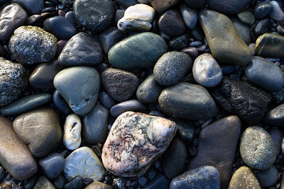 Pebbles at Blow Me Down Provincial Park