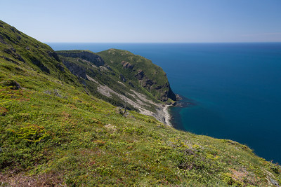The Bottle Cove hike, looking west, out into the Bay of St. Lawrence