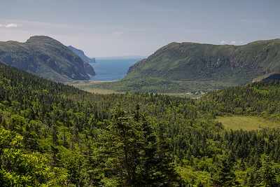View back south toward Lark Harbour and Wild Cove from the Bottle Cove hike.