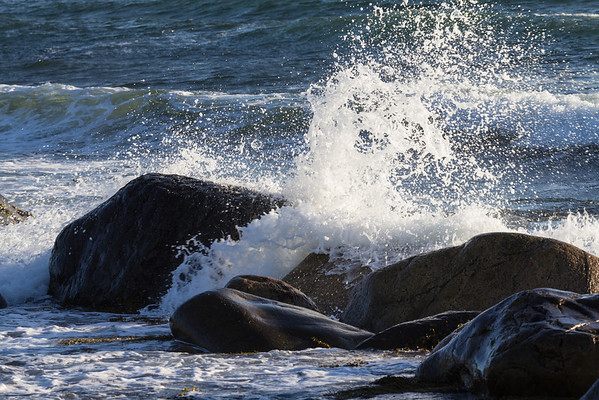 Waves on the shore at Green Point Campground in Gros Morne National Park.