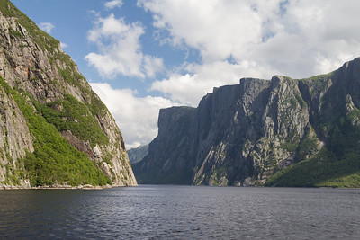 Boat trip into the ancient fjord at Western Brook Pond in Gros Morne National Park.