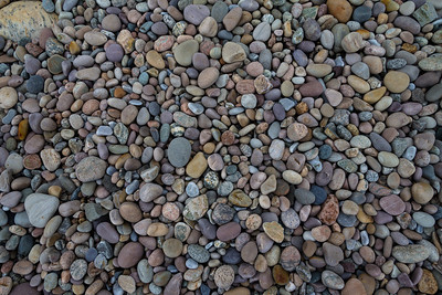 Pebbles on the beach in Gros Morne National Park.