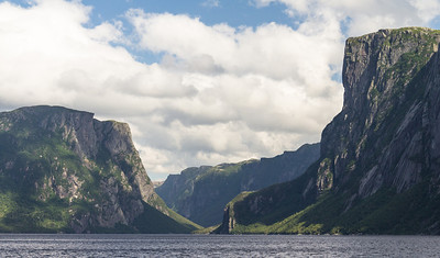 The ancient fjord at Western Brook Pond.  Those are about 2000ft/610m cliffs.