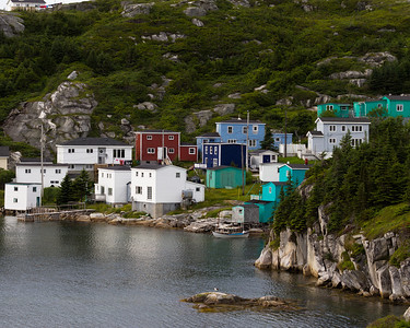 The town of Rose Blanche along the south coast, at the end of the road from Port aux Basques.