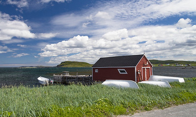 In the village of L'Anse aux Meadows.