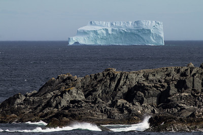 Huge iceberg near Saint Luniare and St. Anthony.