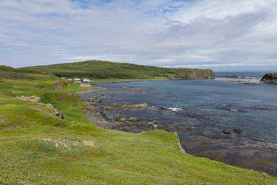 Cape Onion, with the Tickle Inn in the background, which is the most northerly B&B on the Island of Newfoundland.