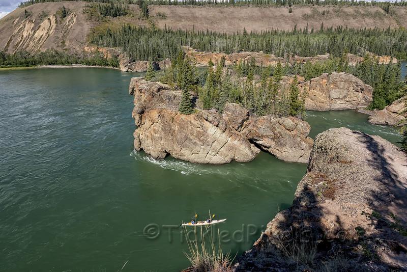 Kayak Entering Five Finger Rapids