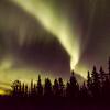 Northen Lights shine bright in Whitehorse, The Yukon, Canada