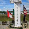 Alaska Hwy - Mile 1422 marker
