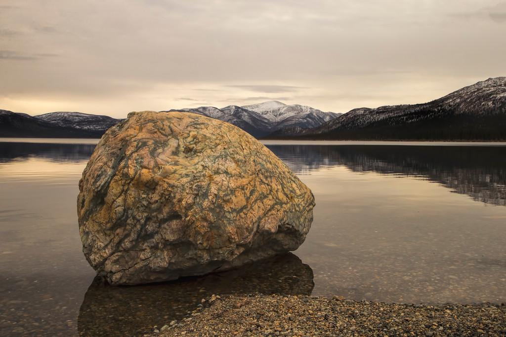 The Boulder at Fish Lake, The Yukon, Canada