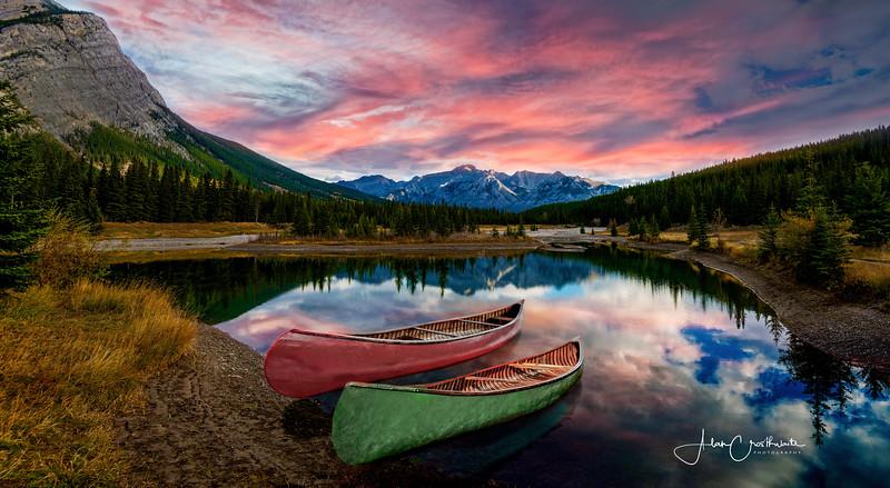 Sunrise at Cascade Ponds