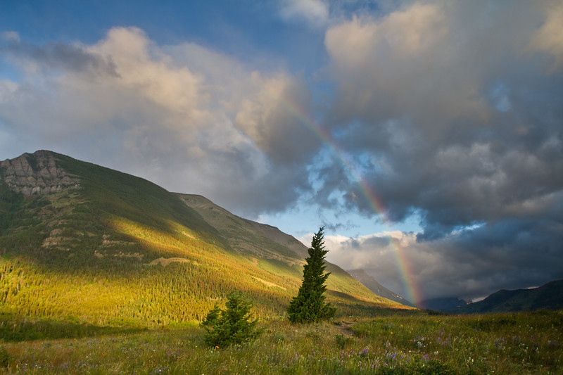 Sunrise Rainbow, Waterton Lakes National Park