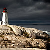 Peggy's Point Lighthouse in Peggy's Cove near Halifax, Nova Scotia