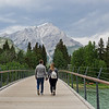 Pedestrian bridge over the Bow River - Banff, Canada