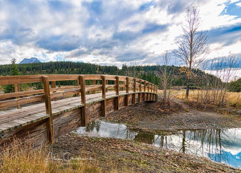 Bridge at Cascade Ponds.