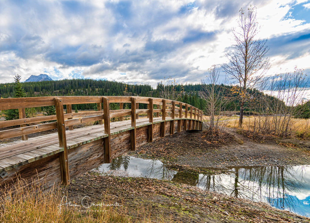 Bridge at Cascade Ponds.