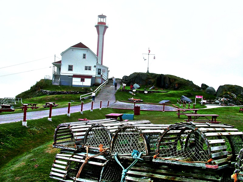 Cape Forchu Lighthouse - Yarmouth Harbor - Nova Scotia