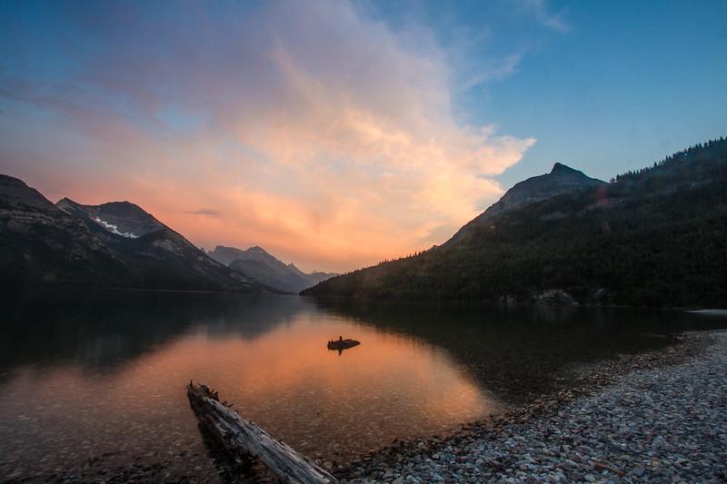 Sunset, Waterton Lakes National Park