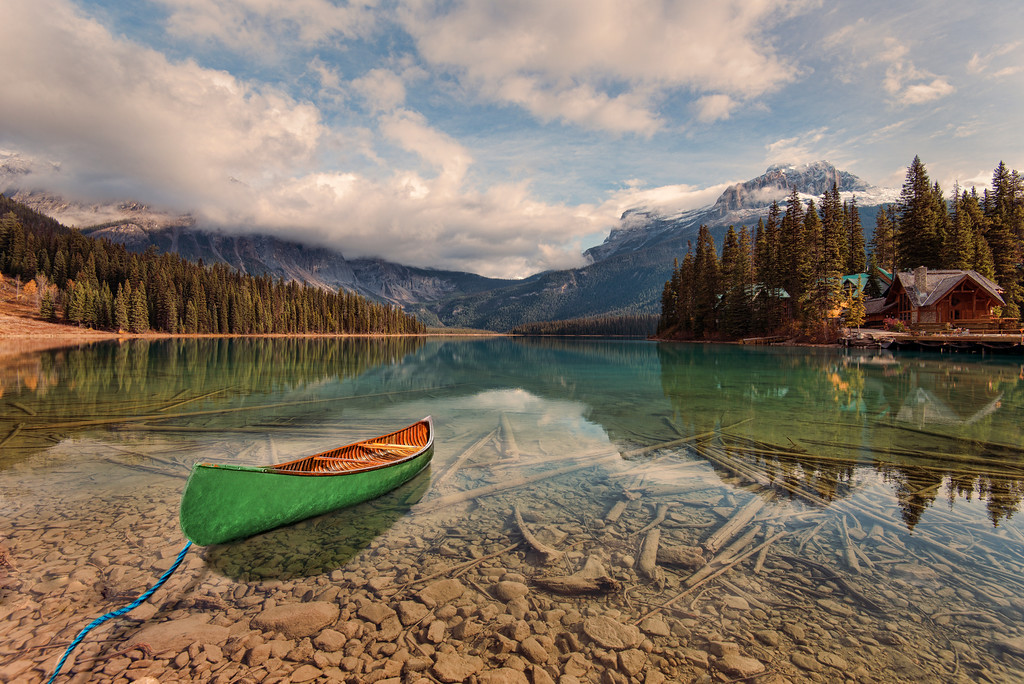 Green Canoe on Emerald Lake