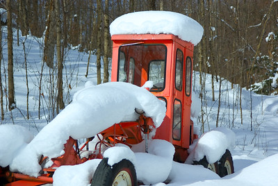 A Snowplow Succumbs to Its Greatest Enemy