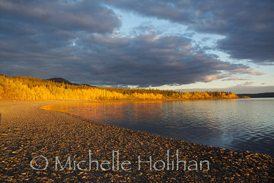 Teslin Lake at sunset