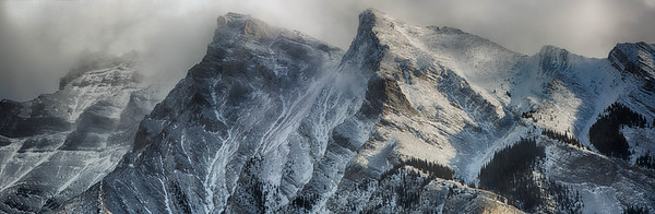 Incoming snow storm in the Canadian Rocky Mountains, Banff National Park
