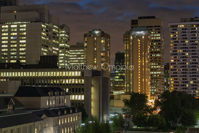 Downtown Toronto Ontario Canada at night