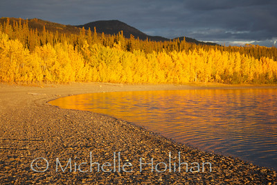 Teslin Lake at sunset