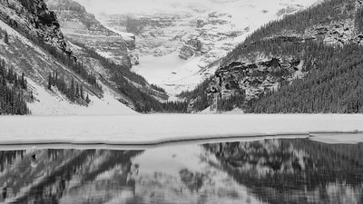 Victoria Glacier reflected in Lake Louise, Banff National Park