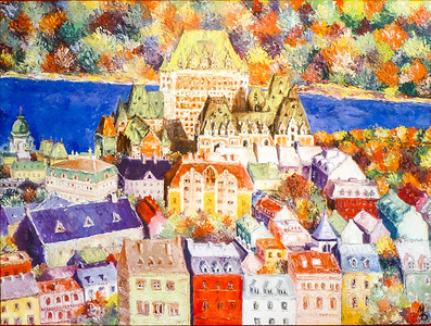 Painting of Quebec City