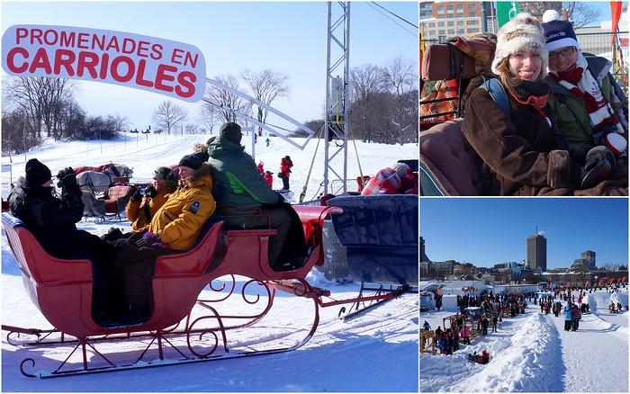 Horse drawn sleighs at Carnaval de Quebec