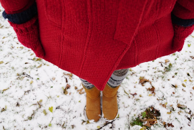 First snowfall in Kingston, Ontario, Canada