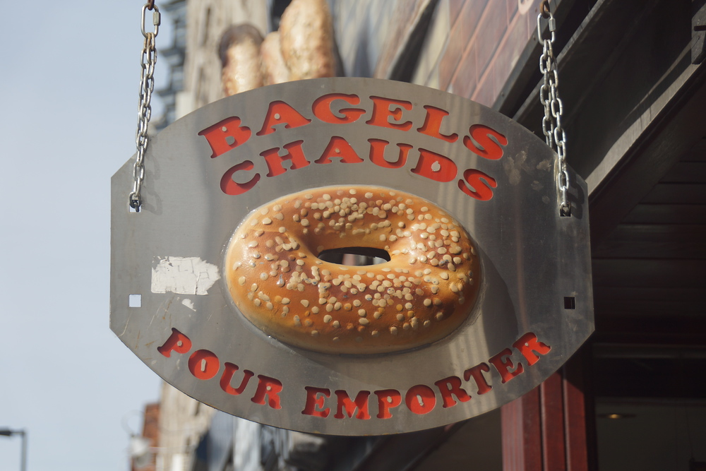 Eat Montreal bagels at St-Viateur Bagel - petit pain