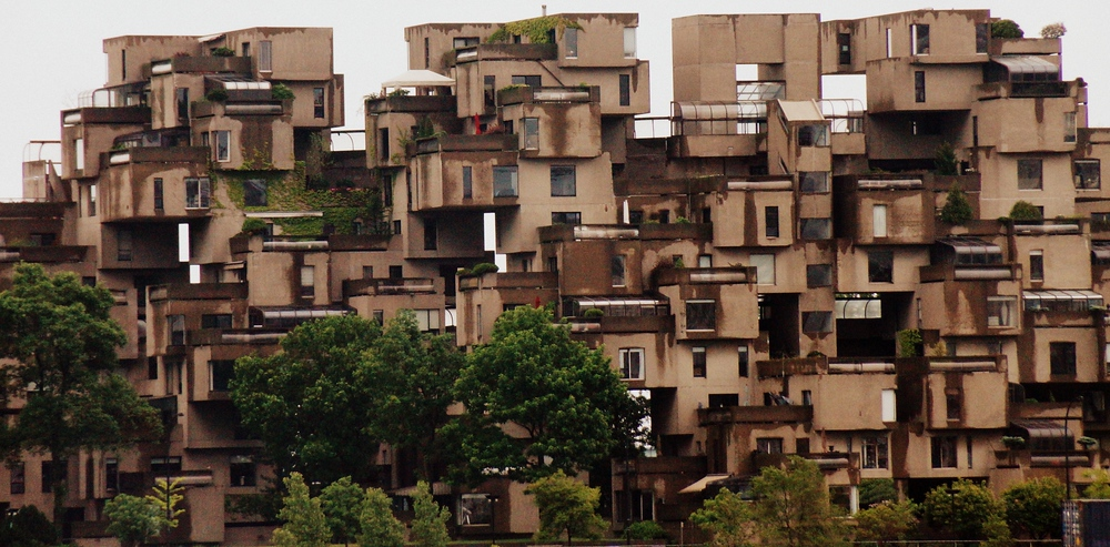 Views or Habitat 67 - Habitat from across the Saint Lawrence River in Montreal