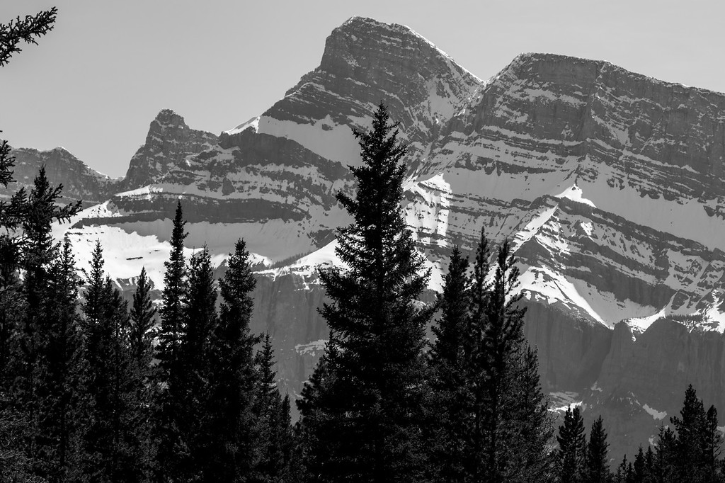Mt. Rundle in Black and White