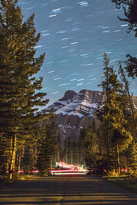 Star Trails over Mt. Rundle