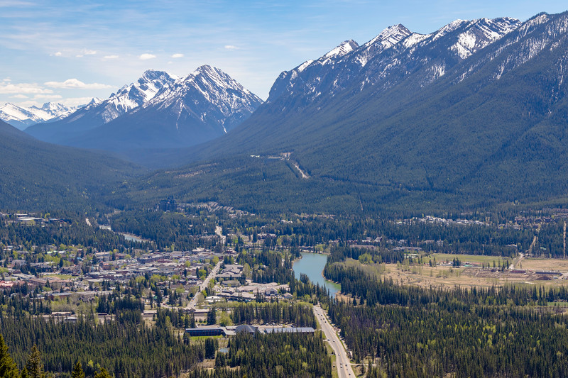 Downtown Banff from Norquay Ski Area