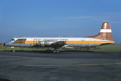 Aeron International Airlines Canadair CL-44D-1 N122AE (msn 18) ORY (Jacques Guillem). Image: 929743.