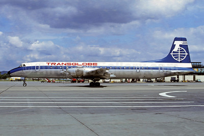 Transglobe Airways Canadair CL-44D4-1 Swingtail G-AWST (msn 30) LGW (Christian Volpati Collection). Image: 947601.