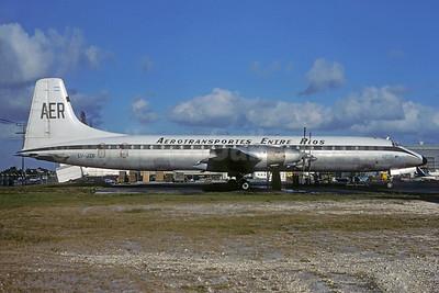 Aerotransportes Entre Rios Canadair CL-44-6 Yukon LV-JZB (msn 8) MIA (Bruce Drum). Image: 103558.