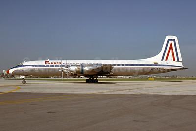 ANDES - Aerolineas Nacionales Del Ecuador Canadair CL-44-6 Yukon (CC-106) HC-AZH (msn 13) MIA (Bruce Drum). Image: 103642.