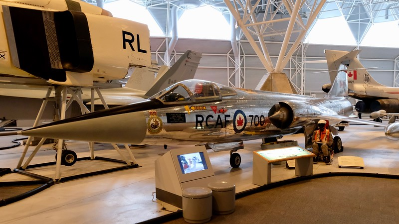 One of my former students, Alan S. from Kapuskasing, always wanted to be a pilot of the CF-104 (aka 'Starfighter' as well as 'The Widow Maker'). With 8-foot wings, this aircraft was not much more than a guided rocket.