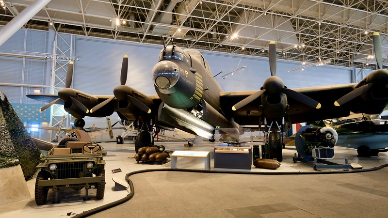 The Lancaster could be fitted for multiple bomb sizes, including a single bomb weighing 10,000 kg.