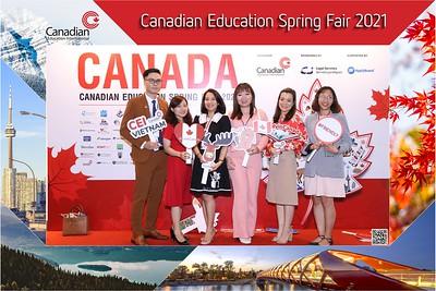 Canadian Education Fair 03/2021 instant print photo booth @ Gem Center | Chụp hình in ảnh lấy liền Hội thảo du học Canada | Photobooth Vietnam